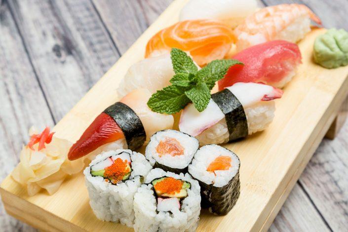 Food-Sushi-selection-Taro-Restaurant-Food-Califorian-Roll-Taro-Restaurant-Belle Imaging Food Photographer London
