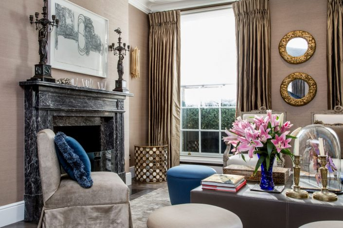 Interiors-Belgravia-Residential-livingroom-fireplace-Belle Imaging Interior Photographer London