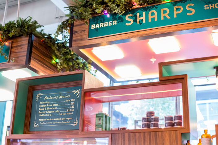 Sharps Victoria interior signs