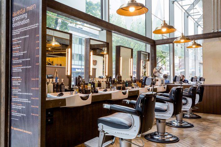 AVEDA Lifestyle Salon and Spa interior barbers- Belle Imaging by Renata Boruch Commercial Interior Photographer London