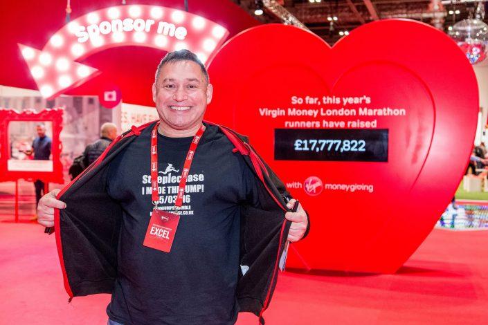 Virgin Money London Marathon – Excel - happy participant – branding – Belle Imaging Event Photographer London