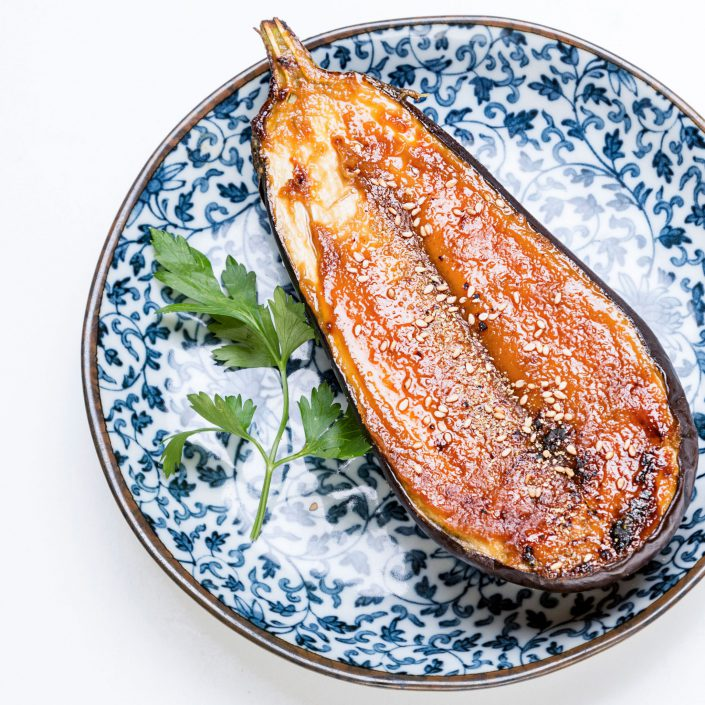 Nasu Dengaku Grilled Aubergine Kamome Brixton Japanese Restaurant Belle Imaging Food Photographer London