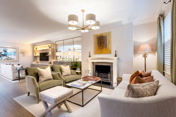 Living Room South Kensington Residential Home Refurbishment GK Architects Belle Imaging Interior Photographer London