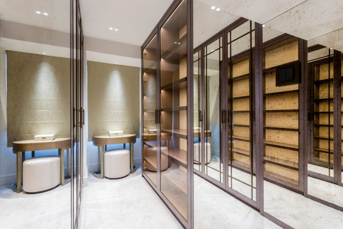 Walking in Wardrobe South Kensington Residential Home Refurbishment GK Architects Belle Imaging Interior Photographer London