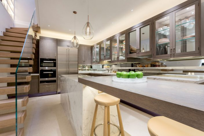 Kitchen Area South Kensington Residential Home Refurbishment GK Architects Belle Imaging Interior Photographer London
