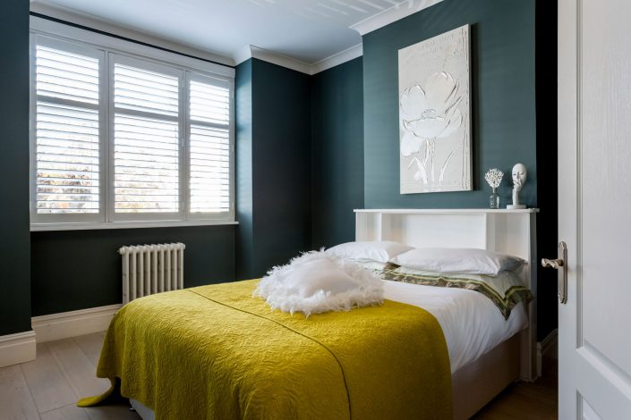 Guest Bedroom Interior Design Silvana Fabbrini shot by Renata Boruch Belle Imaging London Wimbledon