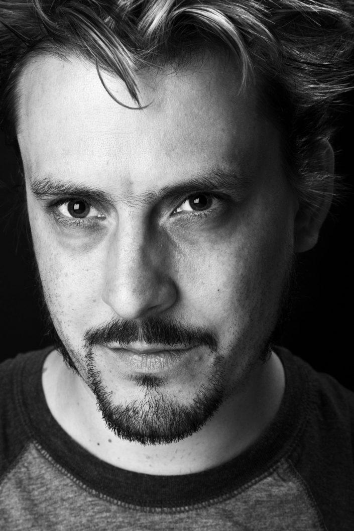BW Actor Headshot Belle Imaging by Renata Boruch Creative Portrait Photographer London