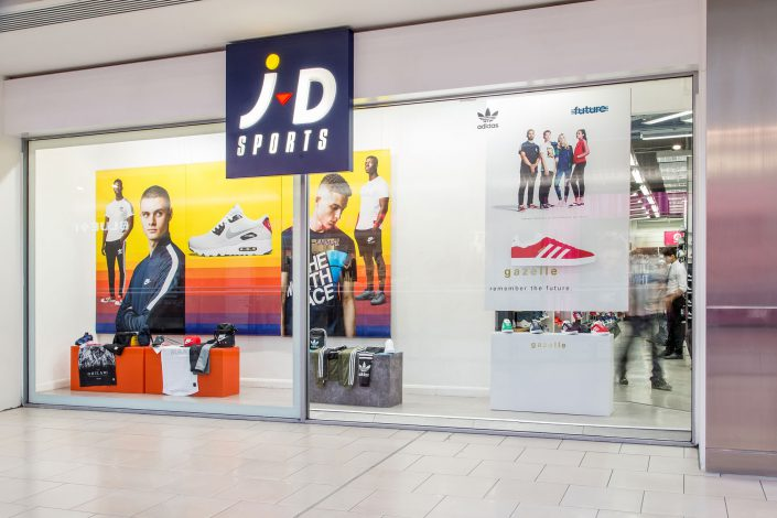 JD Sports - window exterior shot for Four23 by Renata Boruch at Belle Imaging Interior Photographer London
