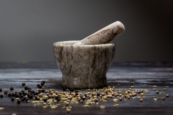 Pestle and mortar, product photography by Renata Boruch at Belle Imaging, Commercial Photographer London