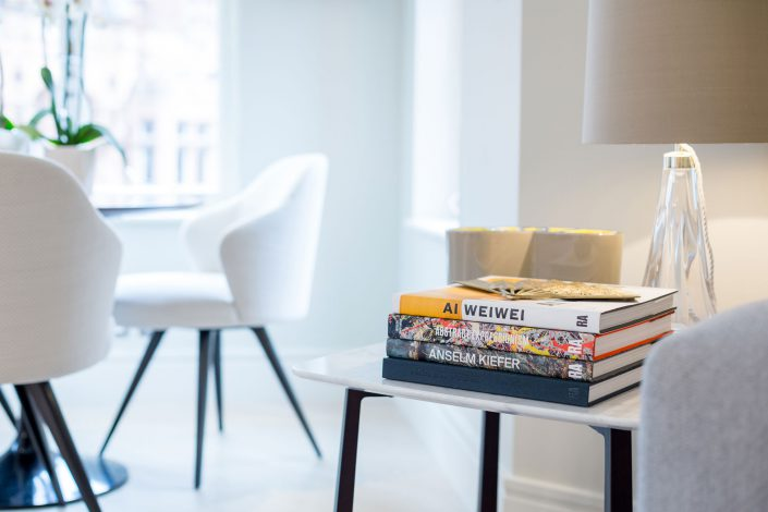 Books, Living Room Interior Details, Mayfair, Belle Imaging Interior Photographer London